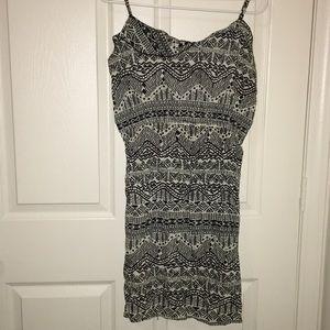 Black and white Aztec pattern dress.